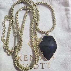Kendra Scott Black Corley Necklace